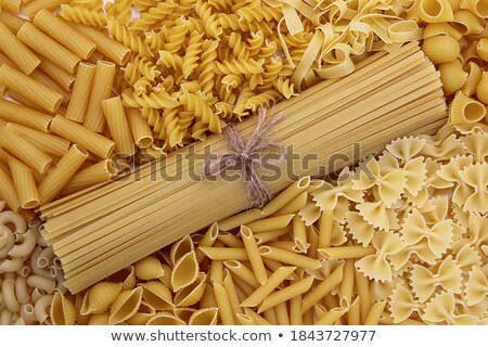 Stock photo: Small bunches of uncooked pasta