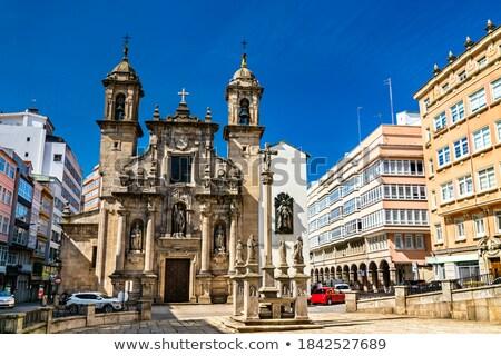 la coruna saint jorge church in galicia spain stock photo © lunamarina