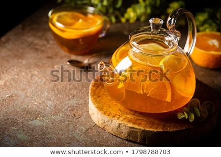 Kubek hot cytrus herbaty ciepły Zdjęcia stock © grafvision