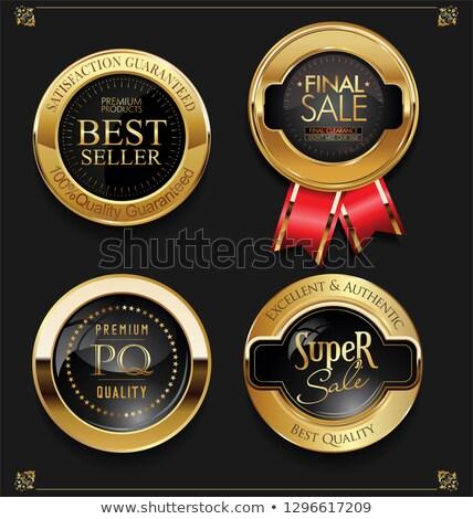 O melhor qualidade prêmio produto dourado promo Foto stock © robuart