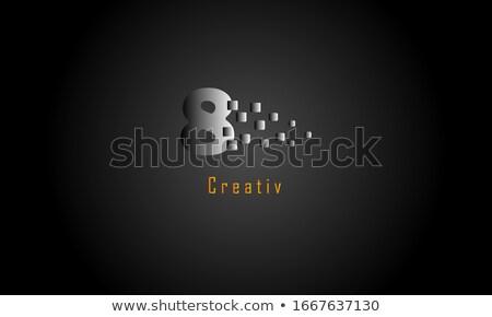 colorful number 8 no eight logo vector Stock photo © blaskorizov