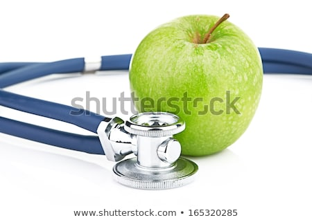 Isolé stéthoscope vert pomme blanche fruits Photo stock © tamasvargyasi