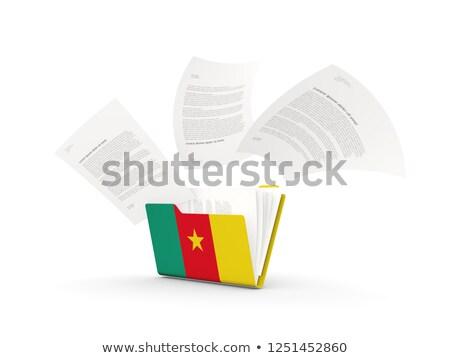 папке флаг Камерун файла изолированный белый Сток-фото © MikhailMishchenko