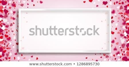 cuori · confetti · vettore · san · valentino · nero · fiore - foto d'archivio © limbi007