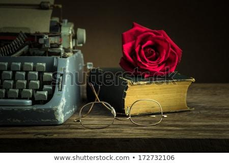 kırmızı · gül · mektup · güzel · şampanya · çiçek - stok fotoğraf © neirfy