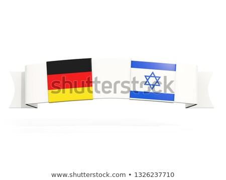 баннер два квадратный флагами Германия Израиль Сток-фото © MikhailMishchenko