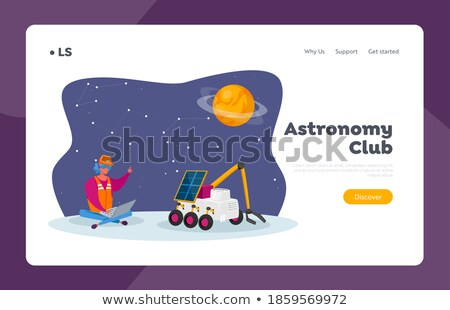 mars rover concept landing page stock photo © rastudio