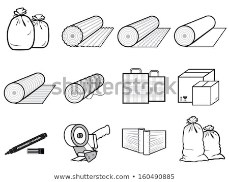 Carton Package with Adhesive Tape Icon Vector Stock photo © robuart