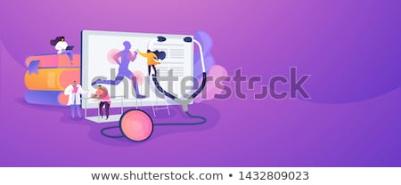 Sports medicine concept landing page. Stock photo © RAStudio
