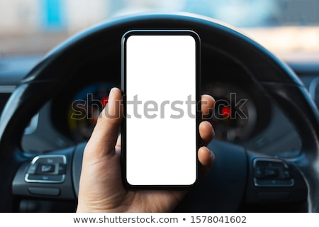 Phoning in car Stock photo © pressmaster
