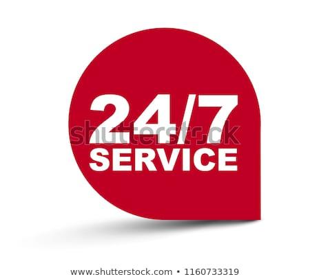 24 hizmet iş zaman zamanlamak çalışma Stok fotoğraf © RAStudio