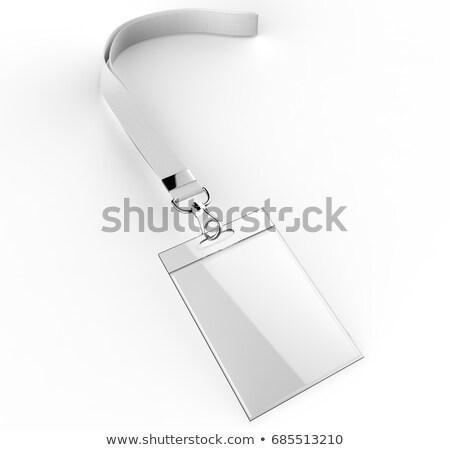 Identificação cartão foto homem isolado cinza Foto stock © adamson