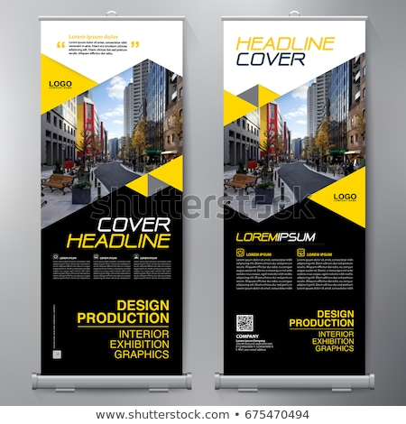 modern rollup standee banner for marketing stock photo © sarts