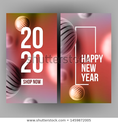 creative annonce banner celebrating 2020 vector stock photo © pikepicture