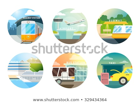 bus station for public transport isolated icon stock photo © robuart