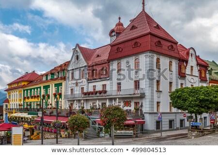 Vue Autriche montagnes colline ciel ville Photo stock © borisb17