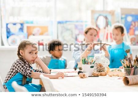 infelice · scolaro · studiare · classe · bambino · studente - foto d'archivio © pressmaster