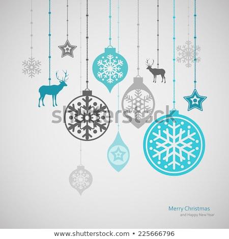 鹿 スノーフレーク クリスマス 装飾 かわいい 漫画 ストックフォト © liolle