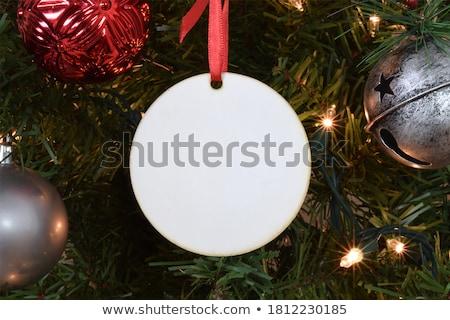 Christmas ornamenten boom geïsoleerd witte groene Stockfoto © nomadsoul1