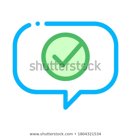 Quote Speech Frame With Approved Mark Vector Icon Stock photo © pikepicture