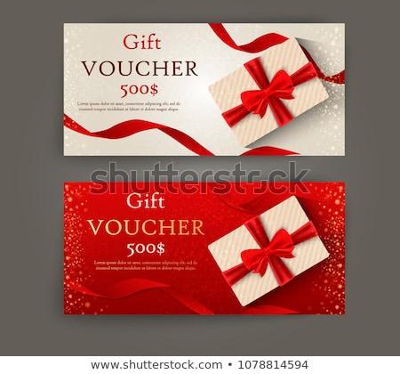 Papieru gift card świadectwa odizolowany Zdjęcia stock © robuart