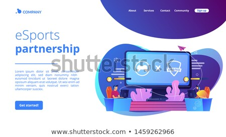 eSports collaboration concept landing page Stock photo © RAStudio
