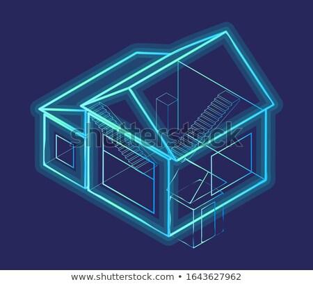 3D inteligente casa diagrama esquema Foto stock © robuart