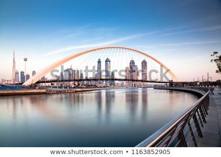 Dubai skyline kleur gebouwen blauwe hemel exemplaar ruimte Stockfoto © ShustrikS