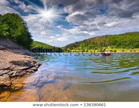 été · canot · pays · bleu · lac - photo stock © wildnerdpix