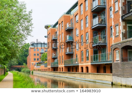 New apartment buildings at the waterfront Stock photo © elxeneize