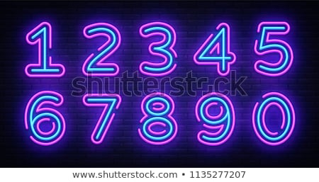set of neon numbers stock photo © orson