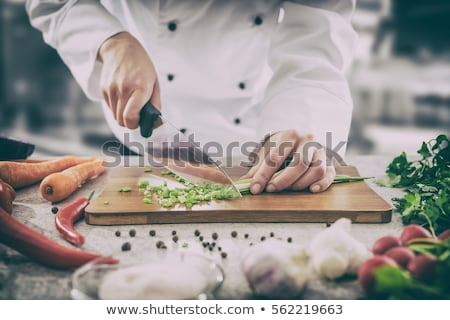 dish with cutting vegetables stock photo © ruslanomega