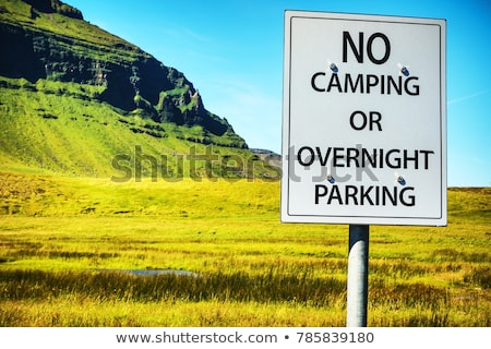 no camping or overnight parking sign Stock photo © morrbyte