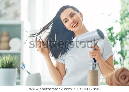 женщину · ванную · волос · ночь · портрет · белый - Сток-фото © photography33