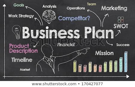 táctica · negocios · grave · mujer · bonita · sesión · jugando - foto stock © stuartmiles