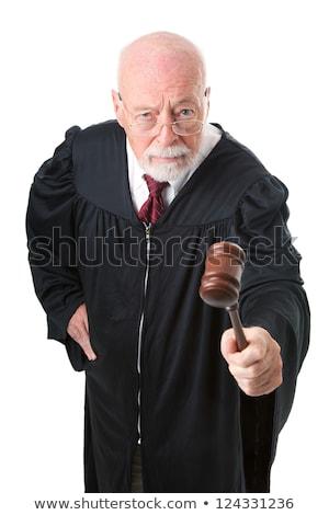 深刻 男性 裁判官 小槌 図書 ストックフォト © broker