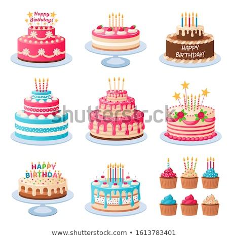 Bruiloft verjaardag gebak vector ingesteld abstract Stockfoto © beaubelle
