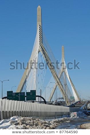 boston city scenery at winter time stock photo © prill
