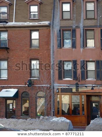 Boston winter tijd landschap Massachusetts Stockfoto © prill
