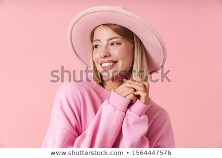 portrait of cheerful young blonde stock photo © acidgrey