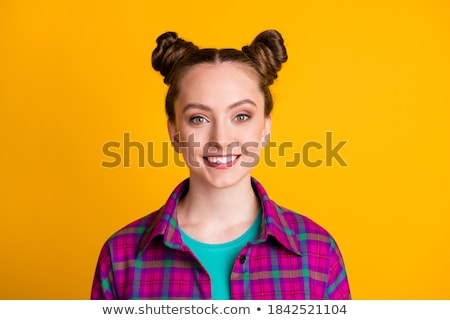 Pretty young woman in a checked shirt Stock photo © photography33