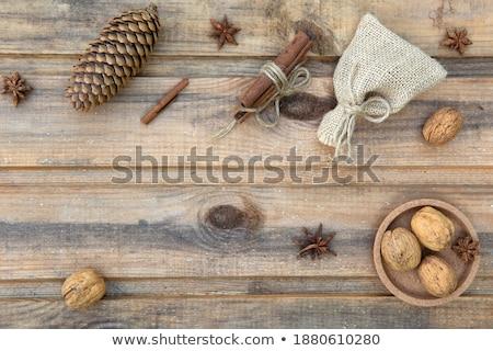Star anis cannelle toile de jute alimentaire design Photo stock © maxpro