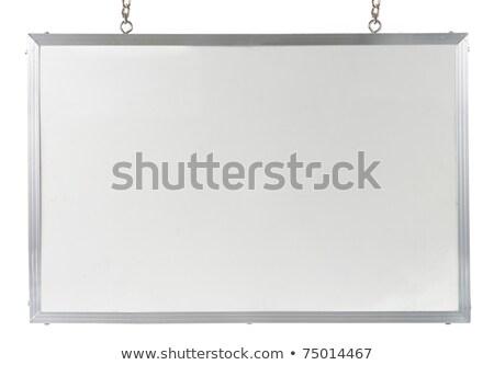 tahta · silgi · yalıtılmış · beyaz · iş · arka · plan - stok fotoğraf © lunamarina