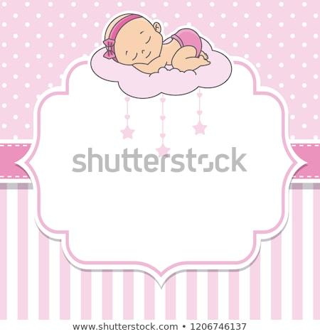 Stockfoto: Zoete · slapen · witte · deken · baby