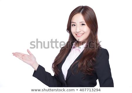 Asian woman introduce something Stock photo © elwynn