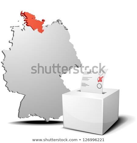 Szavazócédula doboz kereszt zászló Európa térképek Stock fotó © Ustofre9