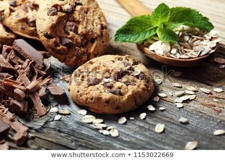Stok fotoğraf: Lezzetli · kurabiye · çikolata · yonga · kuru · üzüm