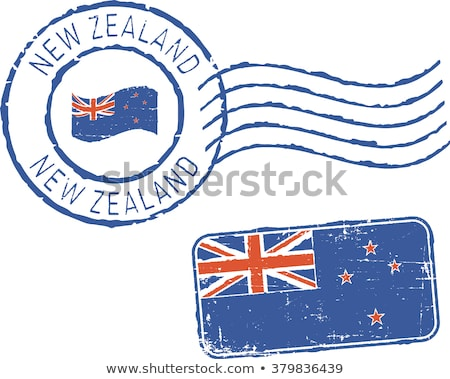 Post stempel New Zealand afgedrukt kinderen school Stockfoto © Taigi