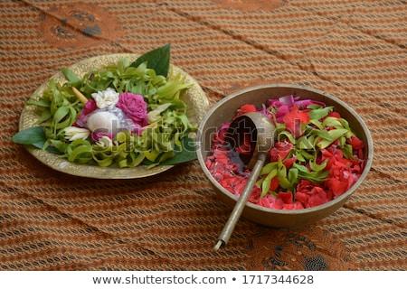 インドネシアの · 伝統的な · 結婚式 · 花嫁 · 洗浄 · 卵 - ストックフォト © antonihalim