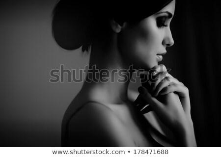 Thoughtful elegant beautiful woman Stock photo © stryjek